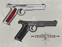 ''Blackout Small Arms'' 1977 Prime Nine Pistols by ShelloStorm