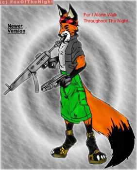 NightFoxHeadGunner by FoxOfTheNight