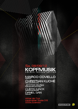 Techno Party Flyer by CurtisMack