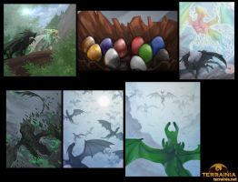 Commission- Age Of Dragons Illustrations by Lilith-the-5th