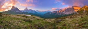 Passo Giau Sunset Panorama by Dave-Derbis