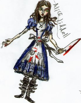 Alice Liddell art by elijarman