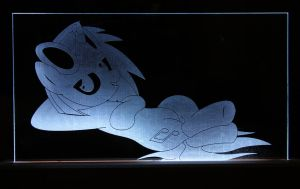 Vinyl Scratch Acrylic LED Picture by steeph-k