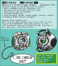 Aperture Prototype - Nerd Core by pirate-kit
