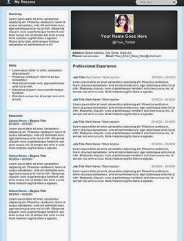 Creative Resume - Micro Blog by rkaponm