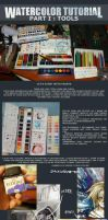 watercolor tutorial part I tools by Traktorova