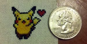 The Tiniest Stitched Pikachu by starrley