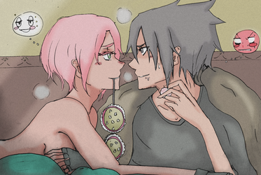 Sasusaku Quick drawing by lylyn19937