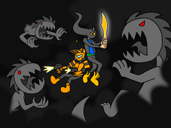 Shadow Battle (Request) by EndangeredCDs