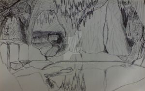 Glittering Caves Depiction by AJChimaera