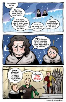 Samwell and Jon Snow - ASoIaF / Game of Thrones by Azad-Injejikian