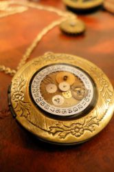 steampunk clock face II front by teatimeinc
