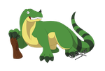 Fakemon Crysadon by GhostLiger