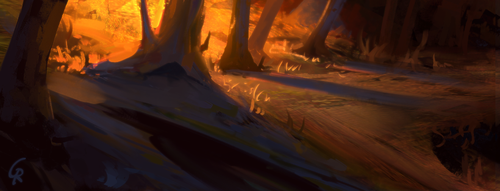 Forest sketchy by RobertoGatto