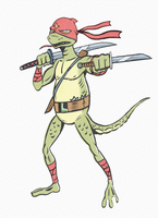 MATURE NINJA LIZARD LEOTELLO by paintmarvels