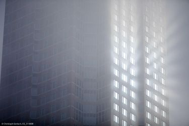 Messeturm Frankfurt (weather phenomenom, detail) by ChristophGerlach