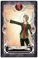 [Dangan Tarot] 0 - The Fool by luciferousLimner