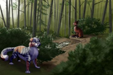 Comm for NebulaWoof by IdrilFox