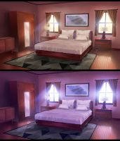 Bedroom - Anime VN Background by ombobon