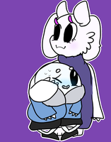 Bean Sans and Toriel by SweaterMaster