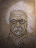 Old man traditional pencil drawing from reference by MoMorpheus