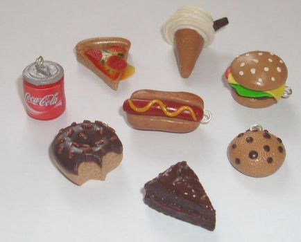 Junk food charms... by PORGEcreations