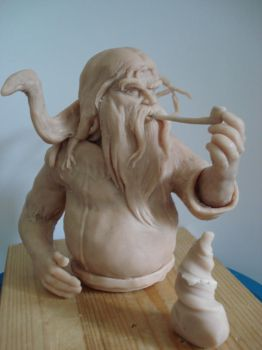 Kulgan and Fantus wip by steveyoungsculptor
