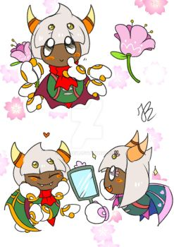 Taranza and Sectonia by AriaKey