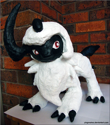 PKMN: Giant Absol Sculpture by yingmakes