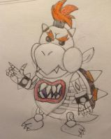 Dry Bowser Jr. Mockup Drawing by BowserJrCoolCamera