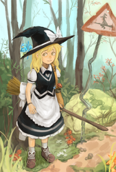 touhou Marisa [YouTube process] by permanentlow