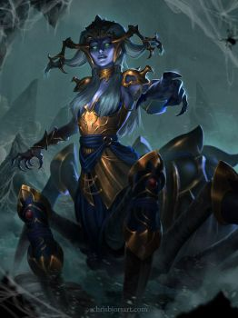 SMITE - Arachne Gold Skin by ChrisBjors