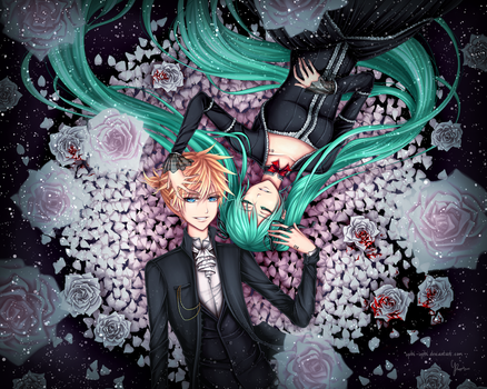 Len x Miku: Let the Skies Cry by Yubi-Yubi