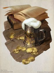 Tales from the Yawning portal title page illo by OlgaDrebas