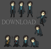 BBC Sherlock Shimeji for Mac! by ItamiRena