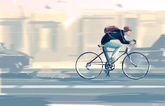 Riding on the highway...tut tut tut... by PascalCampion