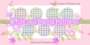 White and Pastel colors patterns by Coby17