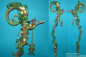 Woodland forest fairy nymph magic witch wand pagan by NymphspellDesign