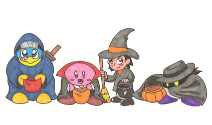 Kirby Inktober 31: Common Halloween Costumes by KojinkaLuigiGodzilla