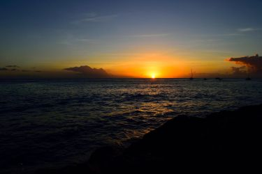 Sunset in Barbados by jziani