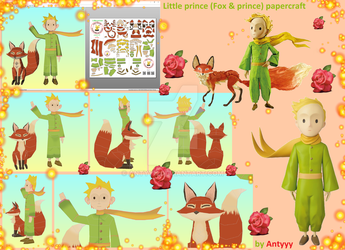 The little prince (Fox and Prince) papercraft by Antyyy