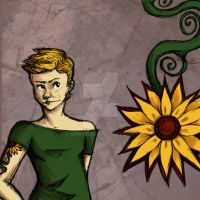 The Girl with the Sunflower Tattoo by srw110