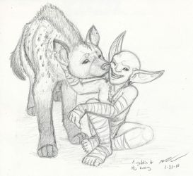 A Goblin and his Worg by MTibbs-89
