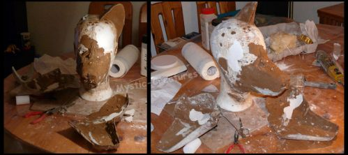 WIP foxtoy mask 03 by Mystic-Creatures