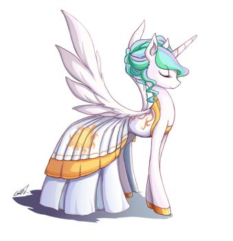 Meet Celestia in a dance by grasspainter