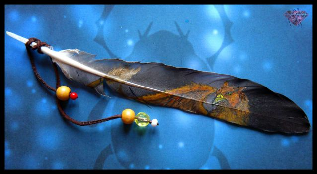 Feather painting : Gryphon by Ejlen