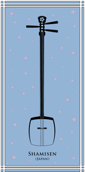 Japanese shamisen by Squid-pro-Quo
