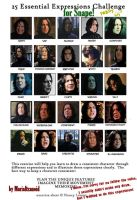 25 Expressions FOR SNAPE by MariaItzanoid