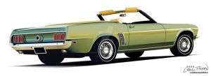 1969 Ford Mustang Convertible by CRWPitman