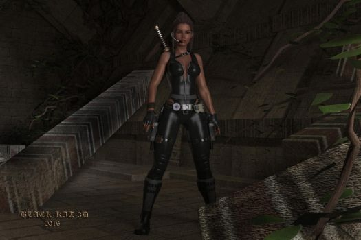 Lara Croft and The Tomb... by black-kat-3d